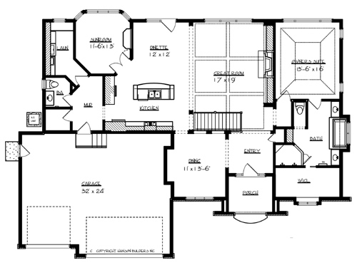 windsor 7049 1 bedroom and 1 bath the house designers luxury house plans main floor master bedroom victorian 9985